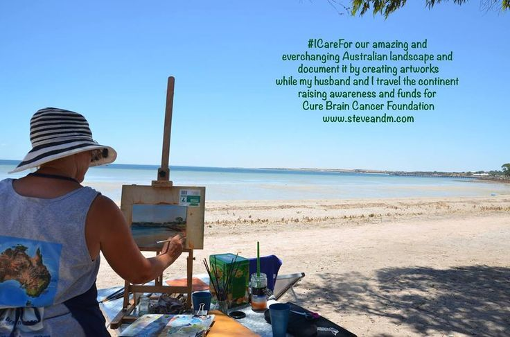 "Miranda Leonie, an artist from Australia, has been traveling the continent with her husband to raise awareness & funds for the Cure Brain Cancer Foundation.  ""I care for our amazing and ever-changing Australian landscape. I document it by creating my..."