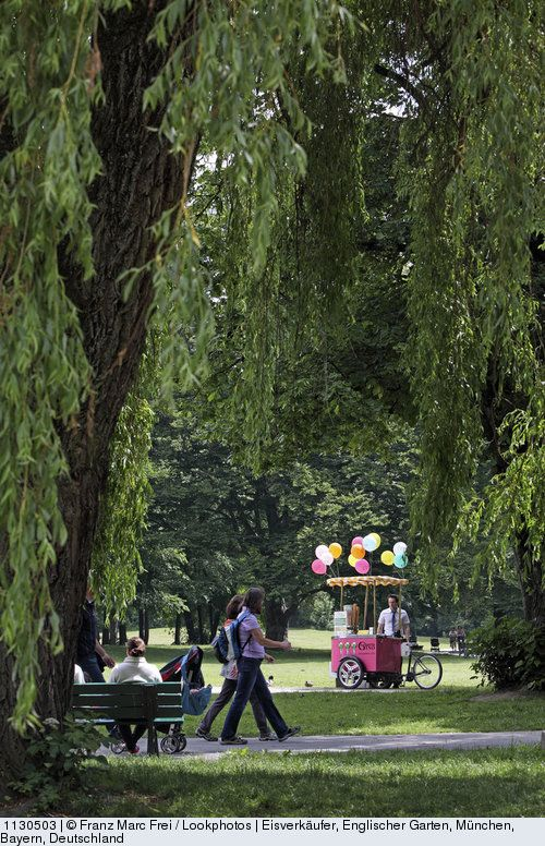 Great Ice cream vendor Englischer Garten Munich Bavaria Germany