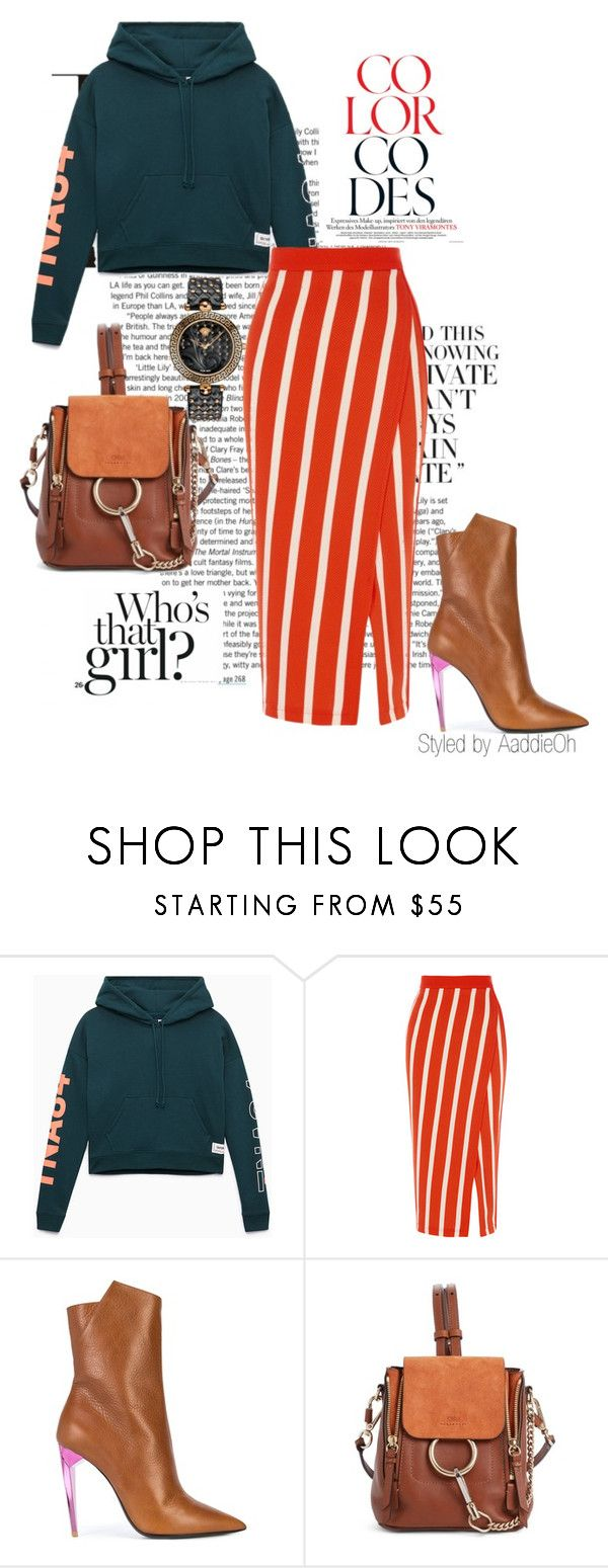 """""""comfort meets Glam: Look 2"""" by abbiekadabie ❤ liked on Polyvore featuring Yves Saint Laurent, Chloé, Versace, Hoodies, contestentry and styledbyaaddieoh"""