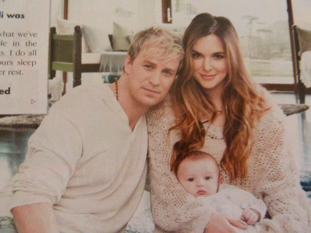 Jodi Albert and Kian Egan chose a Funky Flower Cosy Car Seat Cover and Mini Change Bag when we met them at the Baby Show prior to the birth of Koa