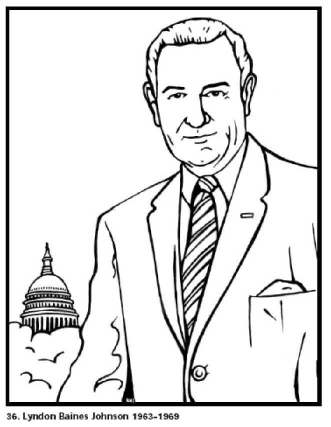 all 44 presidents coloring pages - photo#4