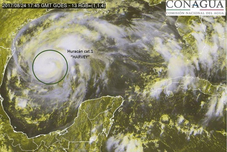 Harvey evoluciona a Huracán categoría 1 en el Golfo de México