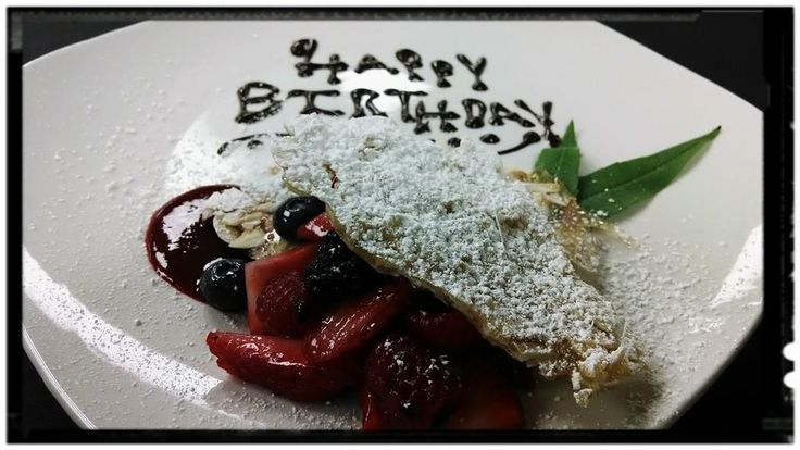 Have a birthday celebration? Let your server know and our chefs will create a birthday surprise for you!