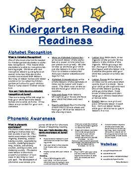 Kindergarten Reading Readiness