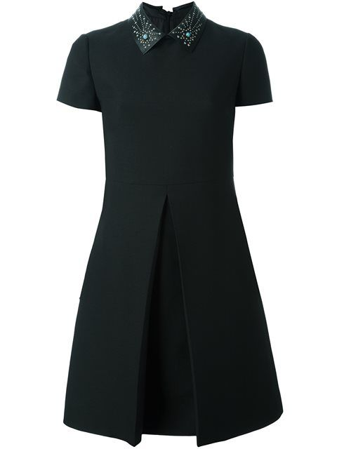 VALENTINO Star Studded Collar Dress. #valentino #cloth #dress