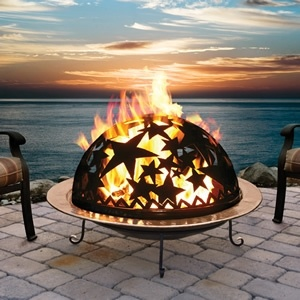 Gorgeous!: Fire Pits, Idea, Full Moon Party, Fire Dome, Outdoor, Firepits, Garden, Starry Nights