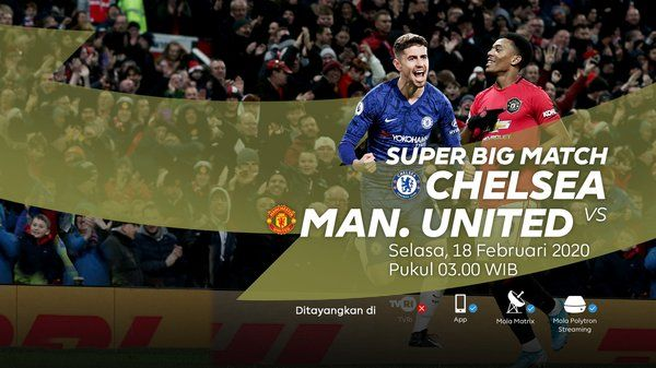 Live Streaming Chelsea Vs Manchester United Mu Di Mola Tv In 2020 Manchester United Manchester Chelsea