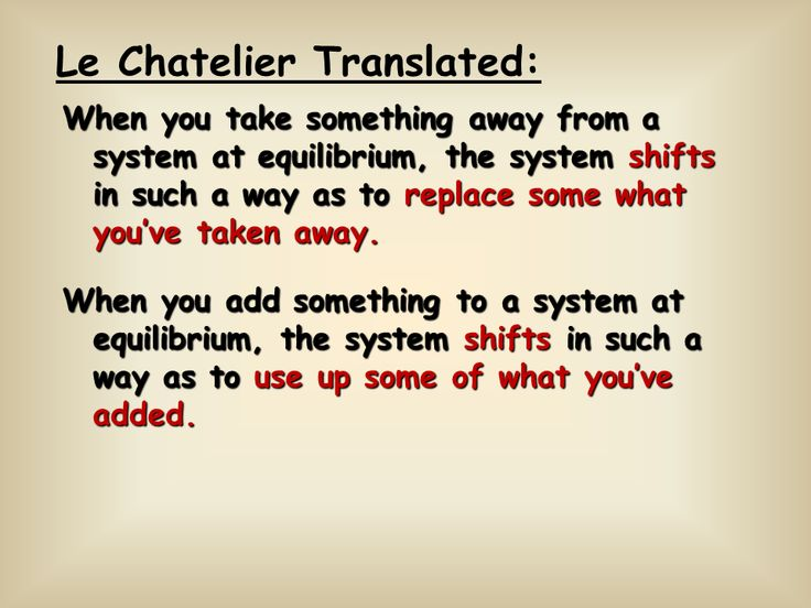 Image result for le chatelier's principle