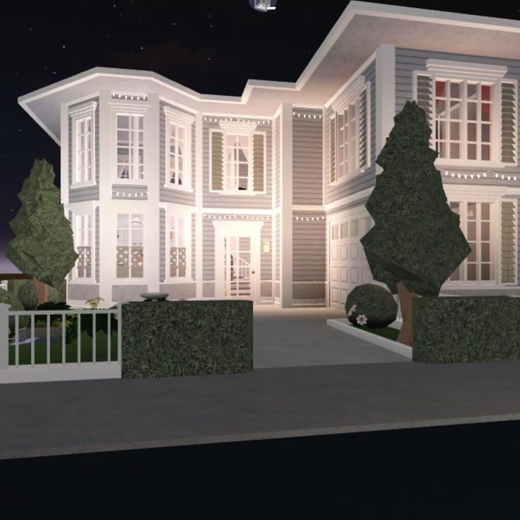 Aesthetic House Exterior Bloxburg In 2020 Beautiful House Plans Home Building Design House Layout House Layouts Two Story House Design Home Building Design