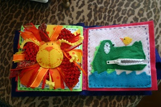 Cute baby book - alligator with a zipper mouth - use for five little monkeys in a tree
