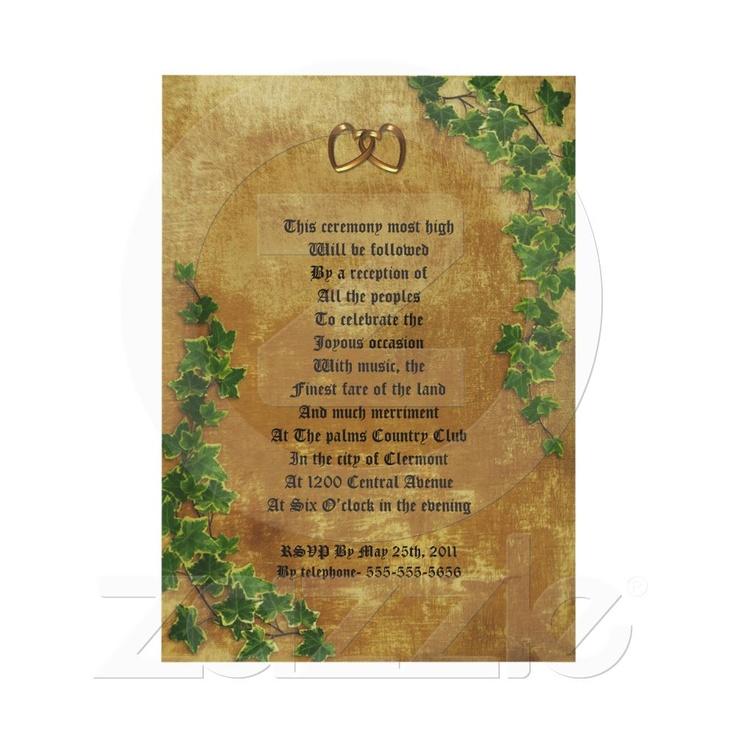 Shop Medieval wedding Invitation decree template created