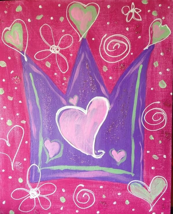 Princess painting.