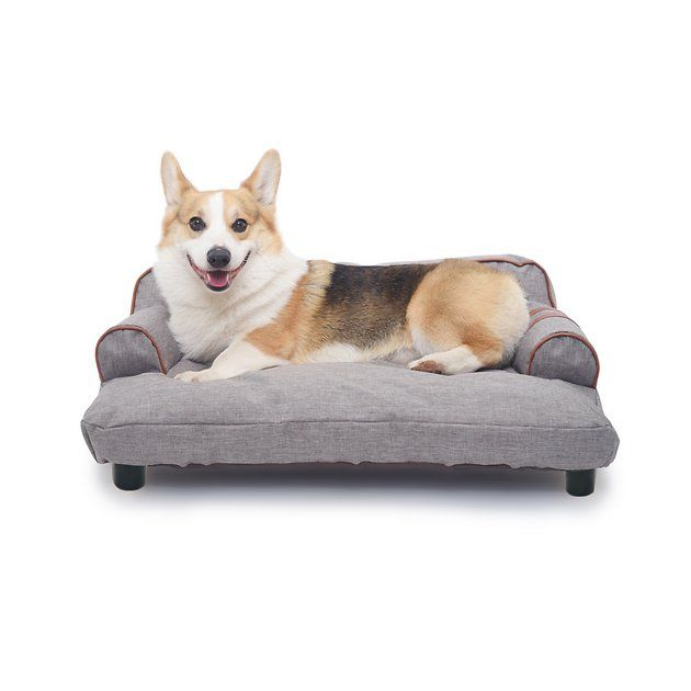 K1 Pet Design Wickman Sofa Dog Bed W Removable Cover Blue Chewy Com Dog Sofa Bed Dog Sofa Dog Bed