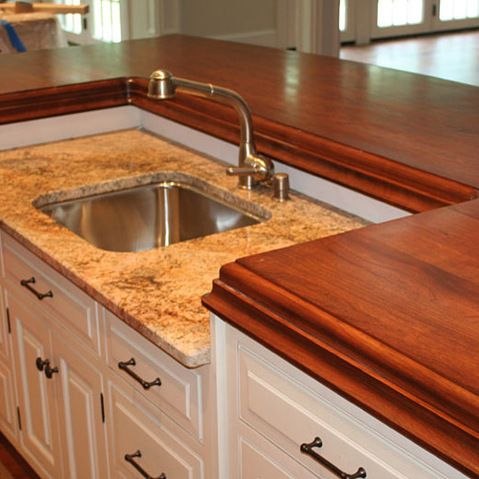 American Cherry Wood Kitchen Island Countertop By Grothouse   3 Inch  American Cherry Wood Kitchen Island