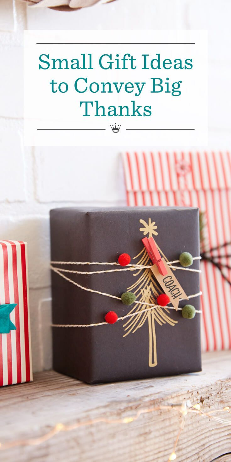 Small gift ideas to convey big thanks | Gifts | Pinterest ...