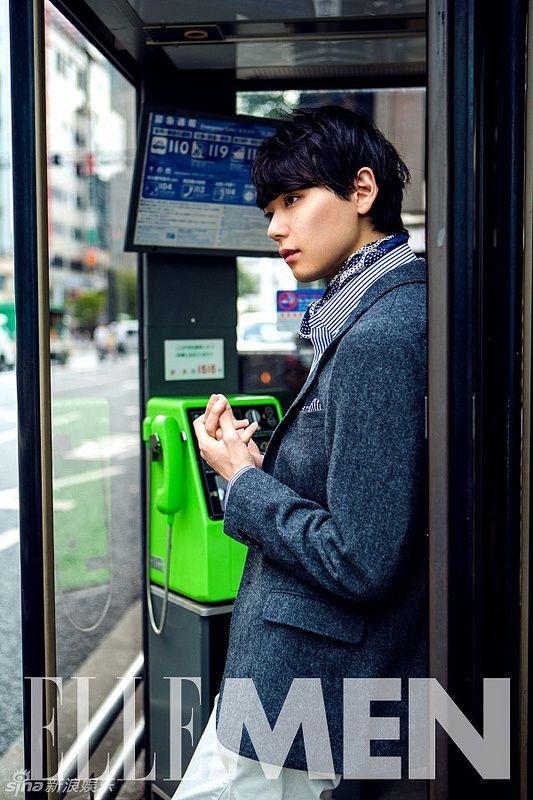 Furukawa Yuki in ELLE MEN | A Dramatic Life-- he's cute even though he is skinnier than I like hot guys to be <3