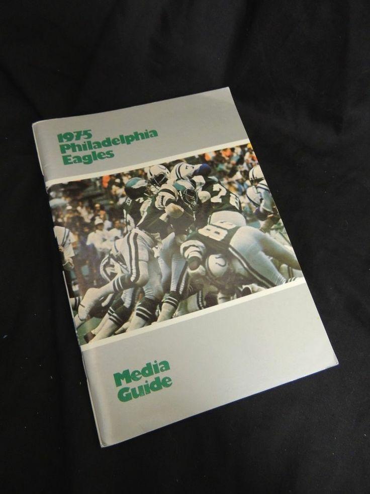 1975 Philadelphia Eagles Roster Press Book Radio TV Media Guide NFL Football