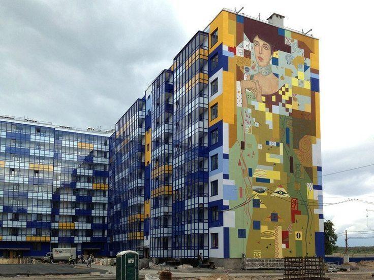 best микрорайон images presentation social  street place making public art brandmauer sankt petersburg the legacy of cultural capital of russia