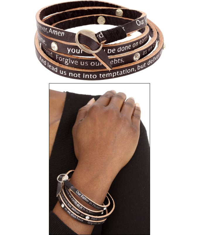 WANT! This stylish Lord's Prayer Wrap Bracelet funds 25 cups of food for the hungry!  Click here to help fight hunger => https://hopefaithlove.greatergood.com/store/hfl/item/49123/lords-prayer-wrap-bracelet?origin=HFLS_PIN_VERN_ADGROUP_ECOMM_LORDPRWRAPNA_1030