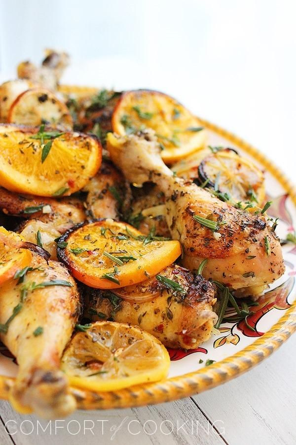 Herb & Citrus Oven Roasted Chicken - 50 Healthy Low Calorie Weight Loss Dinner Recipes!