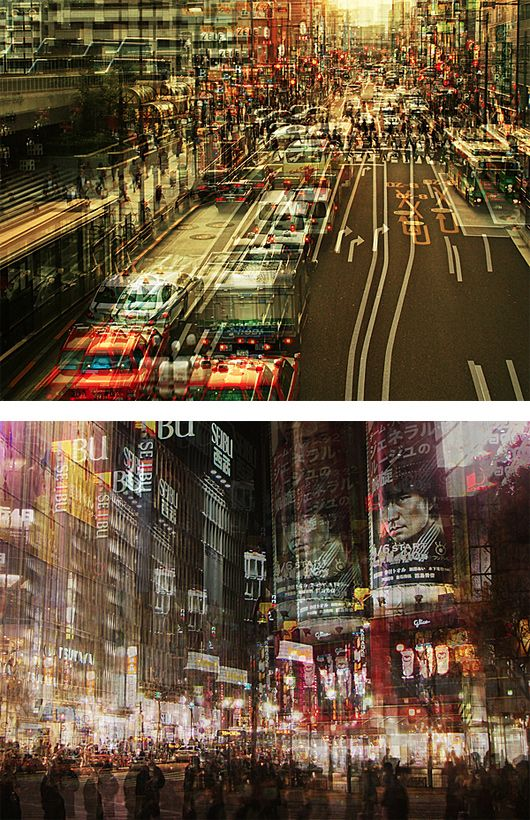 Multiple Exposure Photos of Japan by Stephanie Jung