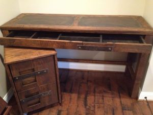 Wooden Desk With Filing Drawer