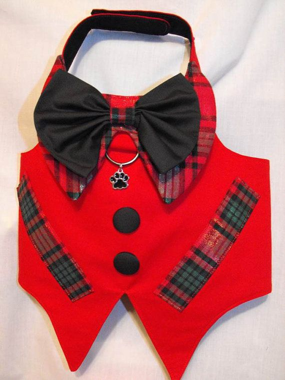 Christmas tuxedo red by dressmeupscottie on Etsy