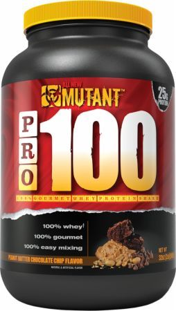 MUTANT PRO 100 Peanut Butter Chocolate Chip 2 Lbs. PLV3110134 Peanut Butter Chocolate Chip - High Quality 100% Pure Whey Protein You Can Trust To Support Healthy Muscle Building