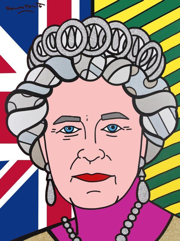 Romero Britto, The Queen (Brazilian Theme)