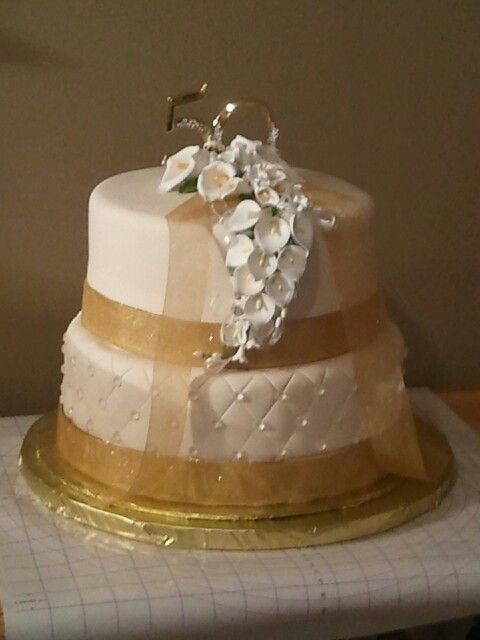 50 Th Anniversary Cake Sweets By Roxie Pinterest