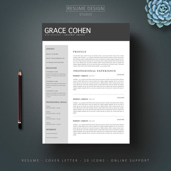 85 best Land The Job images on Pinterest Resume templates - resume template for microsoft word 2007