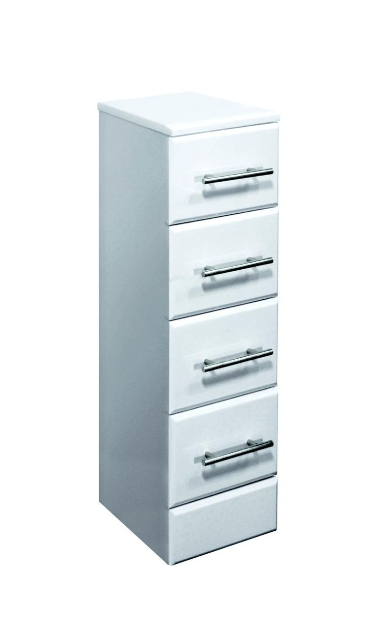 Bathroom drawer units in white - Classic White 4 Drawer Bathroom Vanity Www Plumb Bay Com