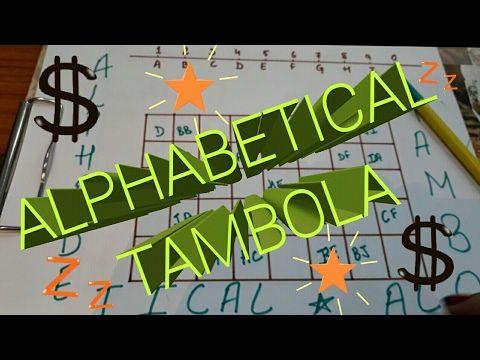 Alphabetical Tambola Game (Kitty Game Fun Game)✔AJV - YouTube