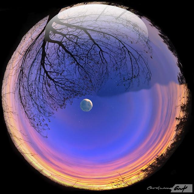 Que la Luna ilumine tu noche y su luz cobije tu Ser...  Encomiendo al cielo más bello que cuide de Tí hasta el nuevo amanecer...  ॐ