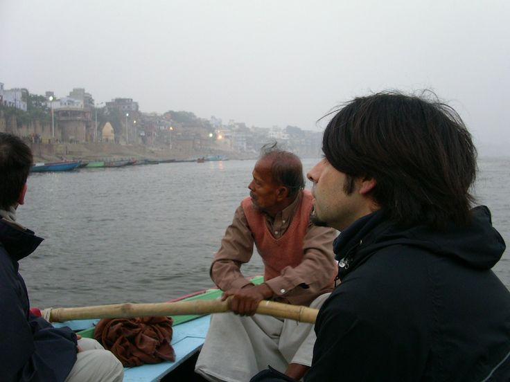 In Varanasi River - India.