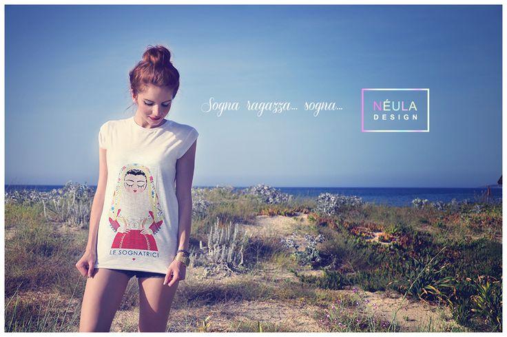 """T-shirt """"Le Sognatrici"""" © Néula Design"""