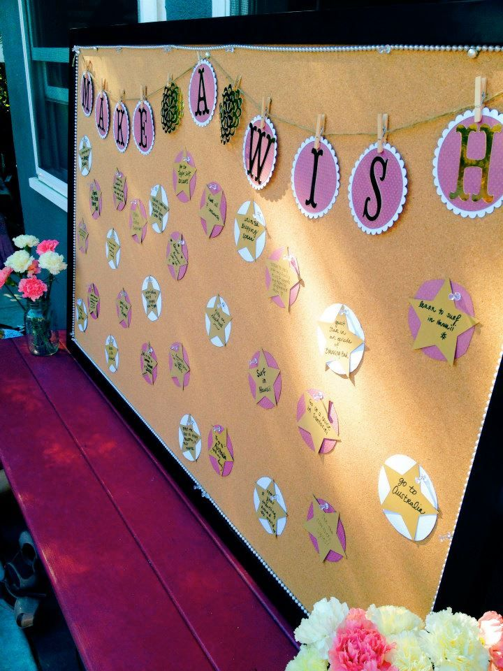 Make A Wish board by Cal Poly Chi Omega! Write your wishes on a star and put them on the board.
