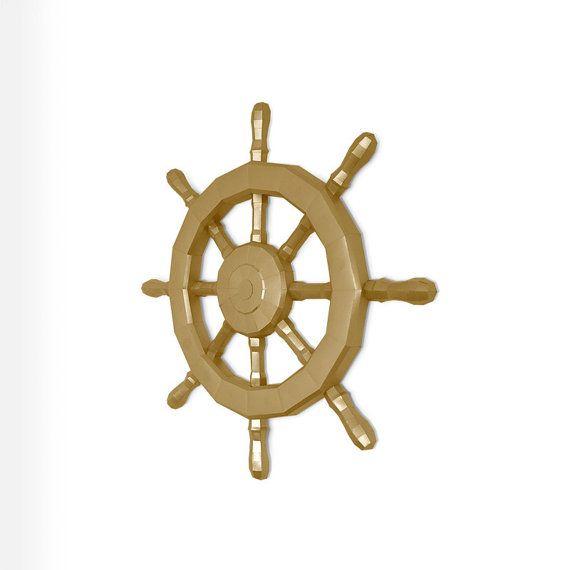 Ship's Wheel  Papercraft  Ocean  Travel  Sea  Ship  от 3BitShop
