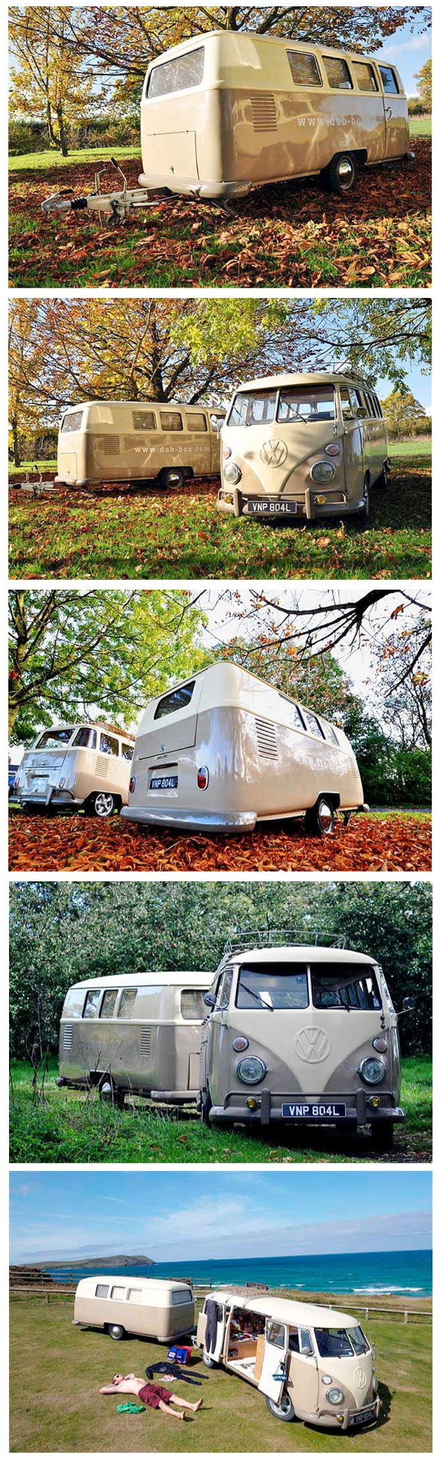Dub-Box Campers :: It's like a VW Van caboose for the great outdoors.