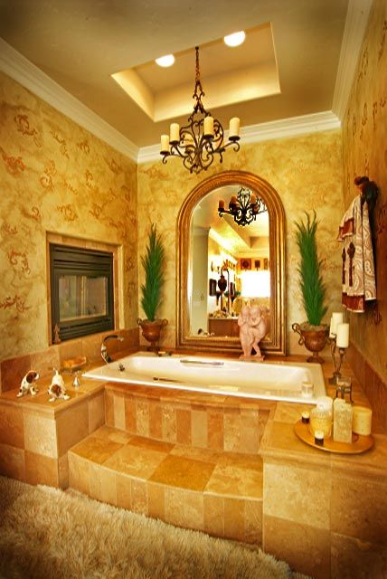Whirlpool tub surrounds picture gallery of custom homes - How to prepare bathroom walls for painting ...