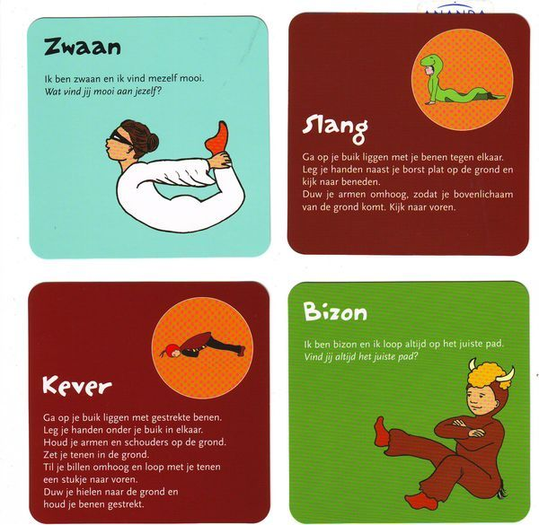 yoga kaart kinderen poes - Google zoeken