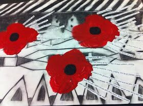 Quick post tonight....   Last week Christine and I posted some Remembrance Day painting pics. It was an idea thatwe brainstormed over a cup...
