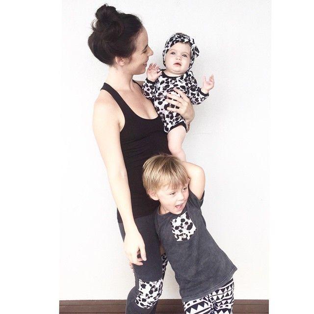 Matching mama and minis @LittleSandCo style wearing @SUNDAYthelabel x