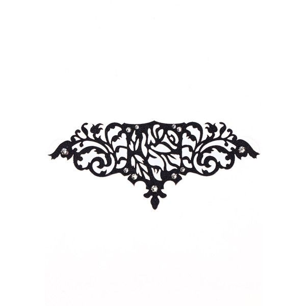 Black Lace Skin Jewelry Romantic Body Jewelry ($32) ❤ liked on Polyvore featuring jewelry, swarovski crystal jewelry, body jewelry, body jewellery, sparkle jewelry and cut out jewelry