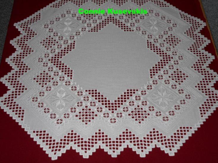 Branco sobre Branco Hardanger 26-3/4 polegadas de quadradas