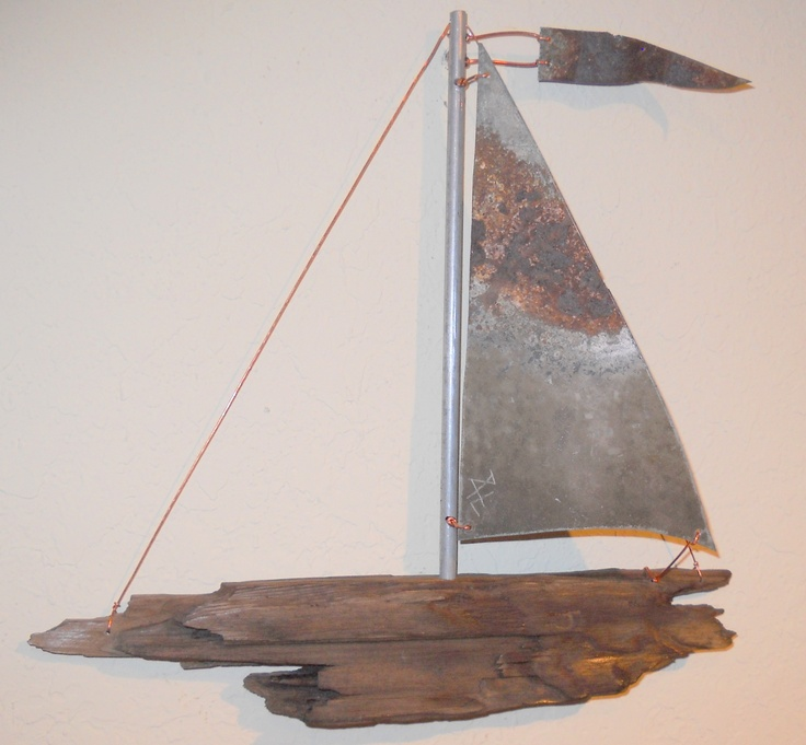 94 best images about driftwood sailboat wall art on for Diy driftwood sailboat