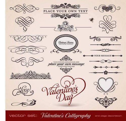 Векторные винтажные рисунки-валентинки клипарт - Vintage Love Cards Clipart - Mega Obzor