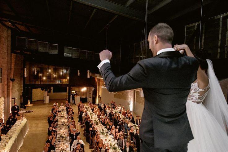 Reception Entrance - A Wedding at The Joinery West End with DJ Ben Shipway // #GMEventGroup #DJBenShipway #BrisbaneWedding #WeddingDJ