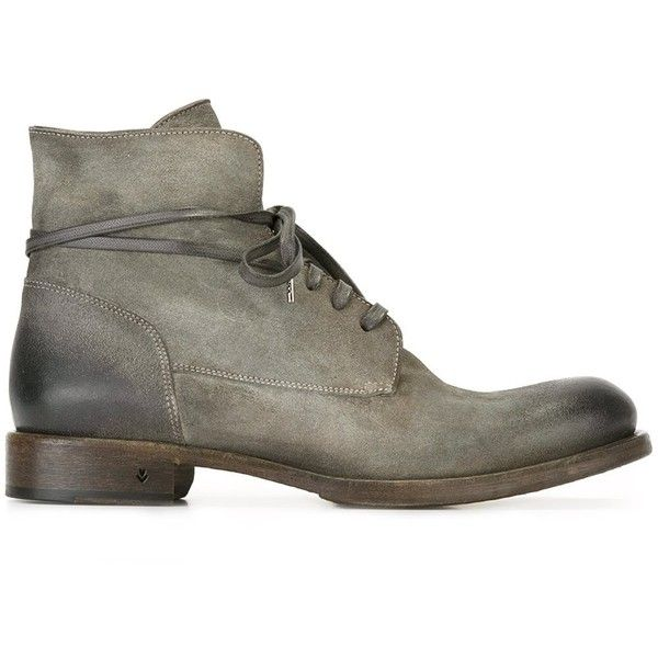 John Varvatos ankle boots (1.820 BRL) ❤ liked on Polyvore featuring men's fashion, men's shoes, men's boots, grey, shoes, mens leather shoes, john varvatos mens boots, mens gray boots, mens leather boots and mens grey shoes
