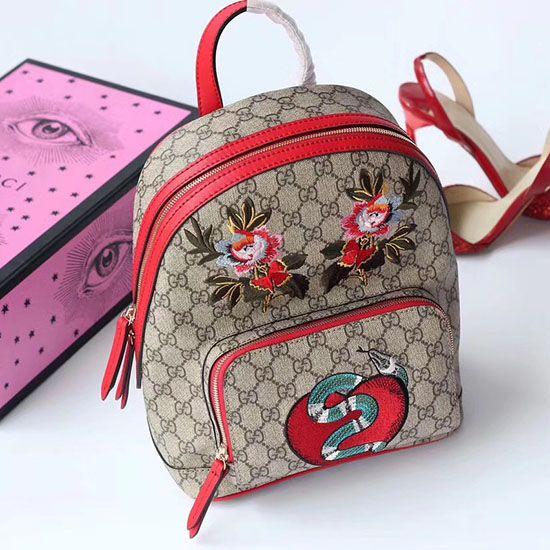 7dec6e9bc Gucci Embroidered GG Supreme Backpack 427042   Gucci Bags   Supreme ...